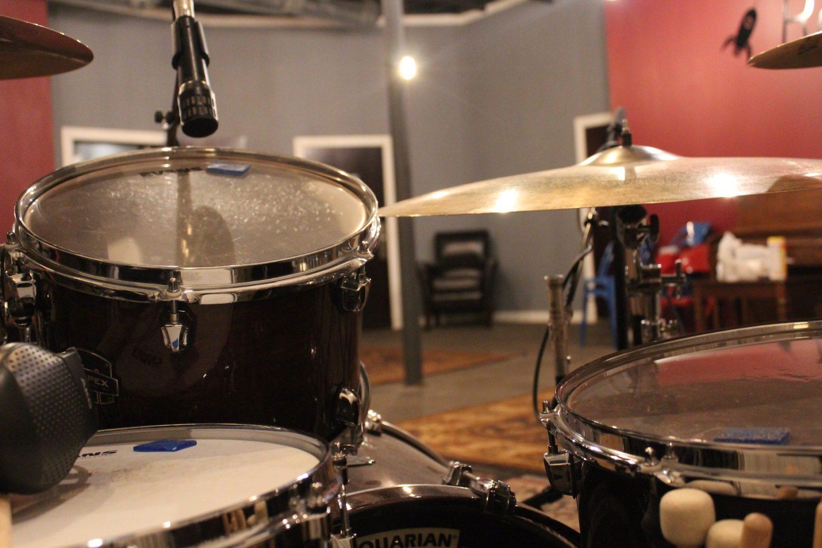 Recording drums in our Utah recording studio